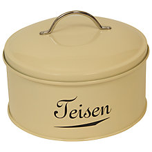 Buy J D Burford Teisen Storage Tin, Cream and Chrome Online at johnlewis.com