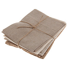 Buy John Lewis Cotton Linen Fat Quarters, Pack of 4, Natural Online at johnlewis.com