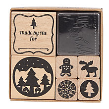 Buy Rico Christmas Stamp Set, Pack of 6 Online at johnlewis.com