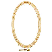 Buy Rico Embroidery Oval Hoop, Natural, 10/16 Online at johnlewis.com