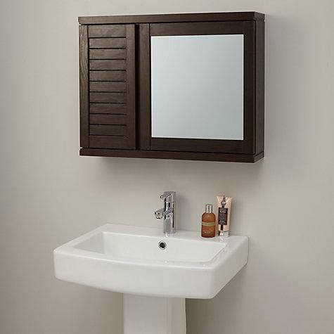 Buy john lewis bali mirrored double wall cabinet john lewis for Bathroom cabinets john lewis