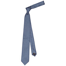 Buy HUGO by Hugo Boss Woven Silk Geometric Tie, Blue/Sky Online at johnlewis.com