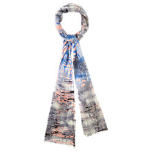 Buy Viyella Watercolour Scarf, Blue Online at johnlewis.com