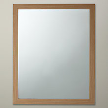 Buy John Lewis The Basics Rectangular Wall Mirror, Wood Effect Online at johnlewis.com