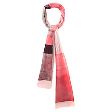 Buy Viyella Abstract Scarf, Pink Online at johnlewis.com