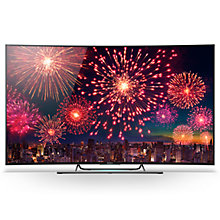 "Buy Sony Bravia KD65S8505 Curved LED 4K UHD 3D Android TV, 65"" with Freeview HD and Built-In Wi-Fi Online at johnlewis.com"
