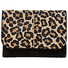 Buy Dune Bentley Suede Clutch Bag, Leopard Online at johnlewis.com