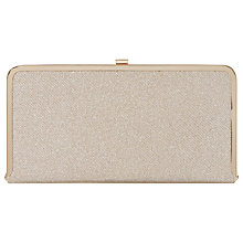Buy Dune Brenna Metallic Box Clutch Bag, Gold Online at johnlewis.com