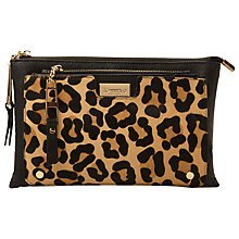 Buy Dune Electra Clutch Bag, Leopard Online at johnlewis.com
