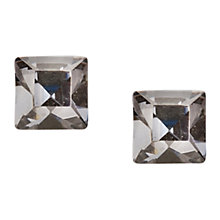 Buy Orelia Glass Stone Cube Stud Earrings, Crystal Blue Online at johnlewis.com