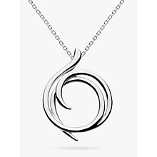 Buy Kit Heath Sterling Silver Cubic Zirconia Helix Wrap Necklace, Silver Online at johnlewis.com