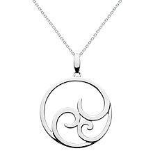 Buy Kit Heath Sterling Silver Ample Cosmic Pendant Necklace, Silver Online at johnlewis.com