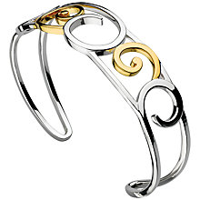 Buy Kit Heath Sterling Silver 18ct Gold Plated Cosmic Gold Cuff Bracelet, Gold Online at johnlewis.com