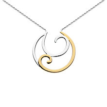 Buy Kit Heath Crescent Gold Plated Necklace, Gold Online at johnlewis.com
