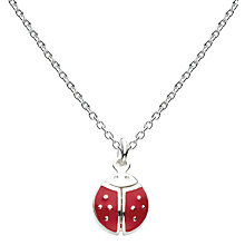 Buy Kit Heath Girls Sterling Silver Enamel Flying Ladybird Necklace, Silver/Red Online at johnlewis.com