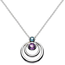 Buy Kit Heath Sterling Silver Simmer Double Loop Topaz Pendant Necklace, Silver Online at johnlewis.com