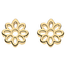 Buy Kit Heath Fleur Gold Plated Sterling Silver Stud Earrings, Gold Online at johnlewis.com