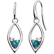 Buy Kit Heath Serene Teardrop Earrings, Topaz Online at johnlewis.com