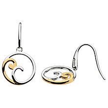 Buy Kit Heath Gold Plated Cosmic Gold Drop Earrings, Gold Online at johnlewis.com