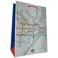 Buy London Tube Gift Bag, Large Online at johnlewis.com
