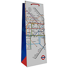 Buy London Tube Gift Bag Bottle Online at johnlewis.com