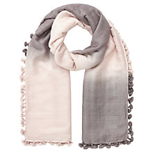 Buy Jigsaw Ombre Pom Pom Scarf Online at johnlewis.com