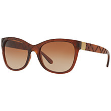 Buy Bvlgari BV7016 Rectangular Framed Sunglasses, Black Online at johnlewis.com