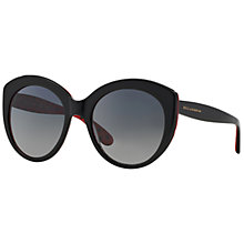 Buy Dolce & Gabbana DG4227 Round Sunglasses, Black/Red Online at johnlewis.com