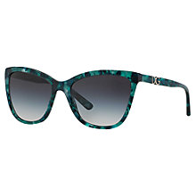 Buy Dolce & Gabbana DG4193 Polarised Cat's Eye Sunglasses, Green Marble Online at johnlewis.com