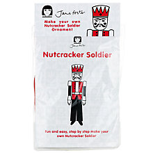 Buy Jane Foster Nutcracker Christmas Decoration Craft Kit, Red Online at johnlewis.com