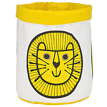 Buy Jane Foster Small Lion Knitting Bucket, Yellow/White Online at johnlewis.com