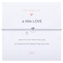 Buy Joma Sterling Silver Plated Cubic Zirconia A Little Love Bracelet, Silver Online at johnlewis.com