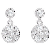Buy Joma Sterling Silver Plated Cubic Zirconia Lora Drop Earrings, Silver Online at johnlewis.com