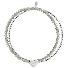 Buy Joma Sterling Silver Plated Layla Grey Bangle, Silver Online at johnlewis.com