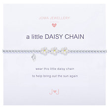 Buy Joma Sterling Silver Plated Cubic Zirconia A Little Daisy Chain Bracelet, Silver Online at johnlewis.com