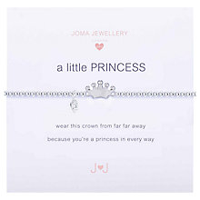 Buy Joma Sterling Silver Plated Cubic Zirconia A Little Princess Bracelet, Silver Online at johnlewis.com
