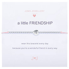 Buy Joma Sterling Silver Plated A Little Friendship Bracelet, Silver Online at johnlewis.com
