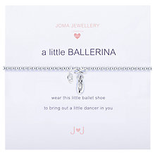 Buy Joma Sterling Silver Plated A Little Ballerina Bracelet, Silver Online at johnlewis.com