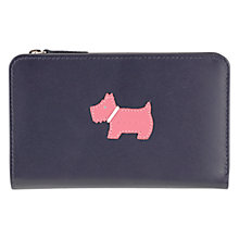 Buy Radley Heritage Dog Small Leather Purse, Navy Online at johnlewis.com