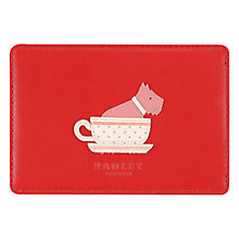 Buy Radley Swimming Pretty Travel Leather Card Holder, Scarlet Online at johnlewis.com