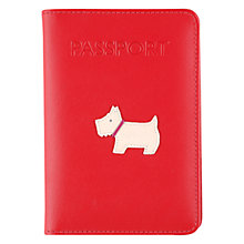 Buy Radley Heritage Dog Passport Cover, Red Online at johnlewis.com
