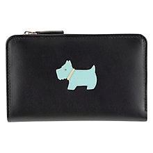 Buy Radley Heritage Dog Medium Matinée Leather Purse, Black Online at johnlewis.com