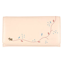 Buy Radley On The Trail Matte Flapover Leather Matinee Purse, Natural Online at johnlewis.com