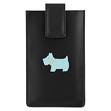 Buy Radley Heritage Dog iPhone 5 Leather Case, Black Online at johnlewis.com