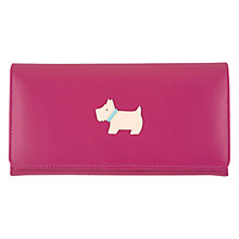 Buy Radley Heritage Dog Large Flapover Matinée Leather Purse, Pink Online at johnlewis.com