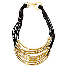 Buy Adele Marie Gold Plated 10 Row Stretch Cord Necklace, Gold Online at johnlewis.com
