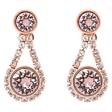 Buy Ted Baker Stormm Crystal Chain Drop Earrings, Rose Gold Online at johnlewis.com