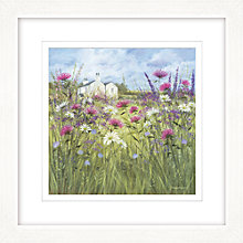 Buy Diane Demirci - Cottage And Daisies Framed Giclee Print, 57 x 57cm Online at johnlewis.com
