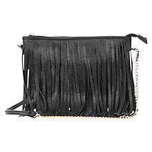 Buy Oasis Tassel Cross Body Bag, Black Online at johnlewis.com