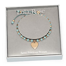 Buy Lola Rose Queensbury Boxed Bracelet, Sky/Gold Online at johnlewis.com